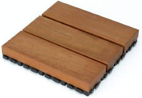 ウリン・ウッドデッキ匠・樹脂ジョイント付・30cm×30cm×厚み4.5cm:48枚セット (ウッドパネル)国産・日本製