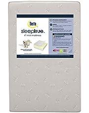 Serta SleepTrue 4-Inch Mini Crib Mattress | Waterproof | GREENGUARD Gold Certified |Trusted 1 Year Warranty | Made in The USA