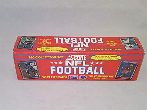 - 1990 Score Football Factory Set Sealed Complete 665 Cards Series 1 & 2