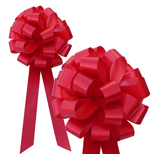 Red Pull Bows with Tails - 8