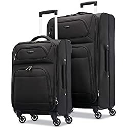 "Samsonite Transyt Expandable Softside Luggage Set with Spinner Wheels, 2-Piece (20""/28""), Black"