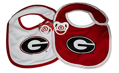 NCAA Georgia Bulldogs Infant Bib and Pacifier Set