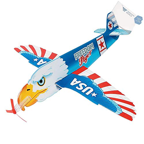 Bargain World Jumbo Patriotic Gliders (With Sticky Notes) by Bargain World