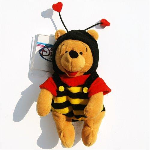 Pooh Plush Beanie (Valentine's Day Pooh - Disney Mini Bean Bag Plush)