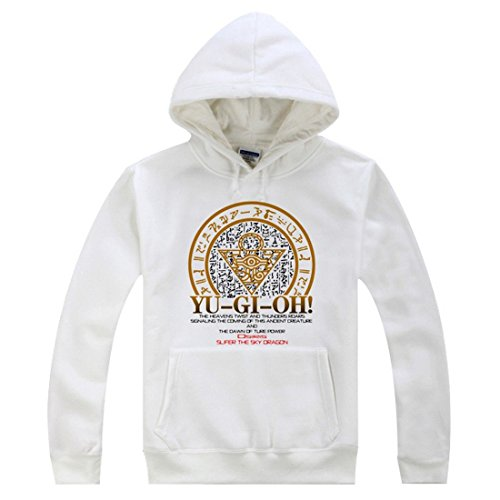 [AnimeTown Yu Gi Oh Cosplay Costume Anime Long Sleeves Hat Hoodie (L, White)] (Gi Joe Cosplay Costumes)