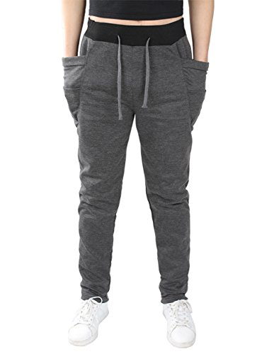 OXYVAN Joggers Pants Elastic Waist Running Sweatpants for Men(Gray, Medium)