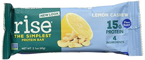 Rise Bar Protein Lemon Cashew, 2.1 Ounce, 12 Pack by Rise Bar