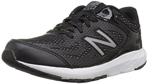 9v1 Running Shoe, Black/White, 6.5 M US Big Kid ()