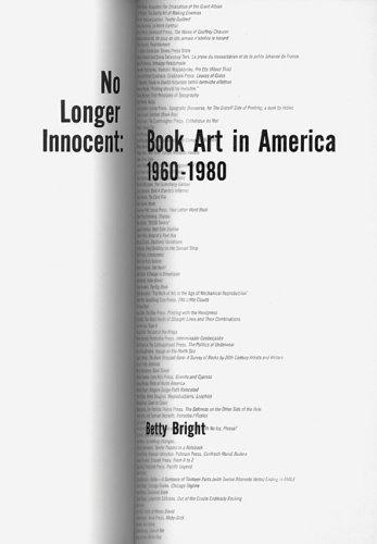 Download No Longer Innocent: Book Art In America 1960-1980 pdf epub