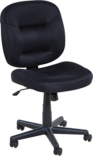 OneSpace Low-Back Black Mesh Task Chair, Nylon Base by OneSpace