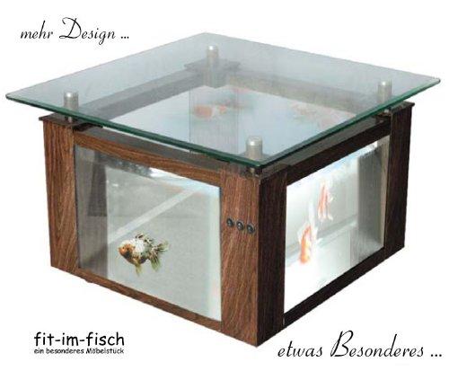 Design Aquarium Tisch 144 Liter 84x84 Cm Amazonde Haustier