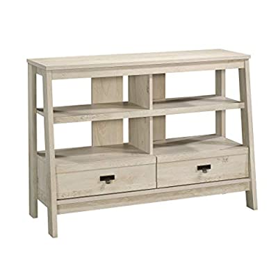 """Sauder Trestle Anywhere Console, For TV's up to 42"""", Chalked Chestnut finish - Accommodates up to a 42"""" Tv weighing 70 lbs. Or less for optimal viewing pleasure. Divided shelving for storage and display of your favorite home décor or audio/video components Drawers feature metal runners and safety stops to keep you and your family safe - tv-stands, living-room-furniture, living-room - 41DG39nnfJL. SS400  -"""