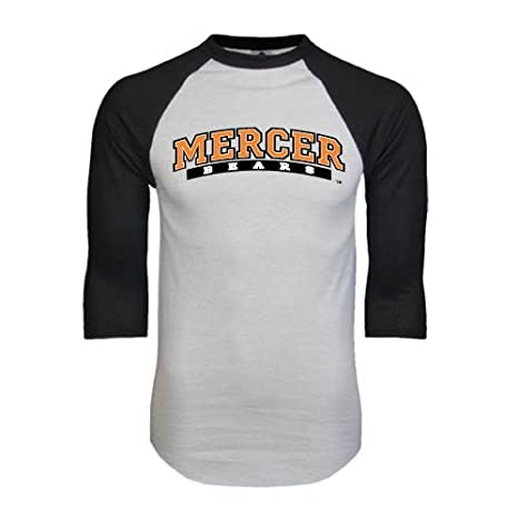 outlet store 2236a bc3fc Amazon.com : Mercer White/Black Raglan Baseball T-Shirt ...