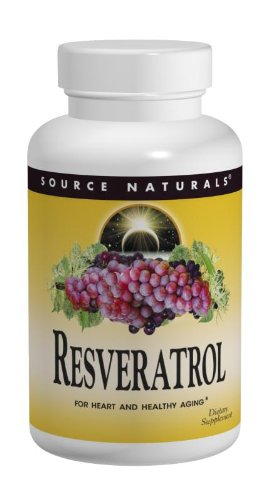 Source Naturals Resveratrol 40mg, 60 Tablets (Pack of 2)