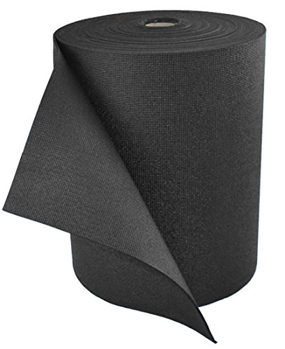 YogaAccessories 36'' Extra Wide Yoga Mat Roll (103 feet - Makes 18 Yoga Mats) - Black