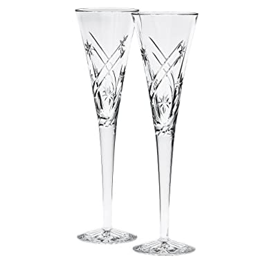 Waterford Achievements Toasting Flutes, Pair