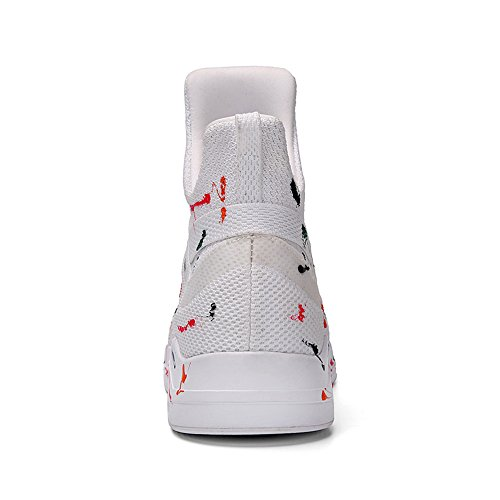 Soulsfeng Unique Design High Top Sneakers Mesh Knit Fleece Lining Spray Ankle Boots for Indoor/Outdoor White shop for for sale clearance view for sale cheap price from china outlet affordable Y5bWGTB