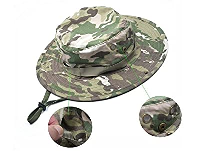 c8ee478677d0b Image Unavailable. Image not available for. Color  Liroyal Tactical Head  Wear Boonie Hat Cap ...