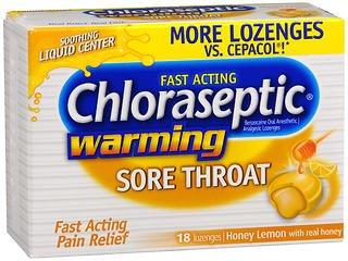(Chloraseptic Warming Sore Throat Lozenges Honey Lemon - 18 ct, Pack of 5)