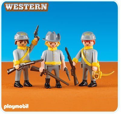 - PLAYMOBIL® 3 Confederate Soldiers