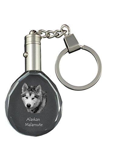 Alaskan Malamute, Dog Crystal Keyring, Keychain, Exceptional Gift