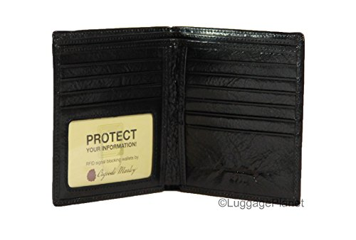 Osgoode Marley Sienna Collection ID Hipster Mens RFID Leather Wallet (Collection Leather Hipster Wallet)