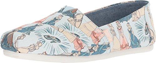 TOMS Women's Disney¿ Alpargata Blue Cinderella Printed Canvas 5.5 B US B (M)