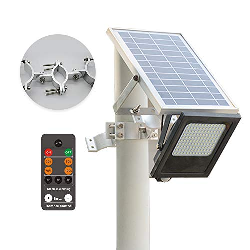 (Sunwebcam 120 LED Solar Powered FloodLights Outdoor Security Light 1000 Lumen, IP65 Waterproof with Auto-on/off and Sensor Detection for Lawn Garden Landscape Shed Lawn (With Remote Control))