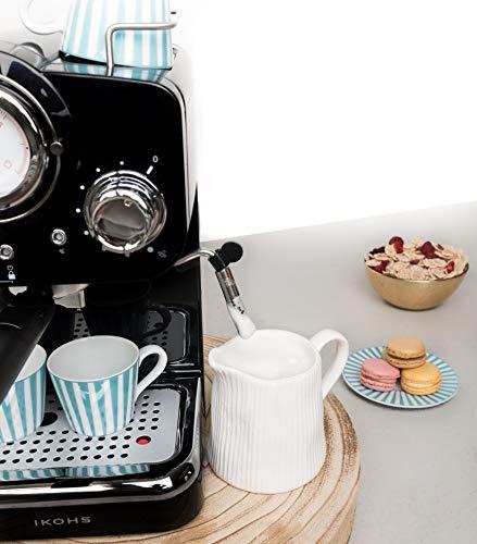 IKOHS THERA RETRO - Macchina del Caffè Express per caffè espresso e cappuccino, 1100 W, 15 bar, vaporizzatore regolabile… 5