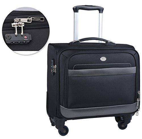 Rolling Laptop Case, COOFIT Nylon Rolling Laptop Briefcase Roller Laptop Bag by COOFIT (Image #2)