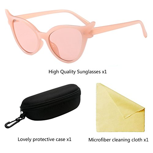 Zhhlaixing Clásico Elegante para Protección Gafas de Eyewear Pink de Sol Marco Star Glasses Gafas Mujer UV400 qEUc8xqrdw