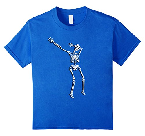 [Kids Dabbing Skeleton Cinco de Mayo Shirt women men kids dancing 10 Royal Blue] (Guy Dance Costumes)