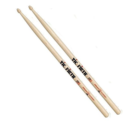 Vic Firth 6-Pair American Classic Hickory Drum Sticks Wood 5B