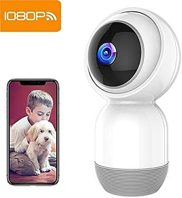 Cámara de Seguridad Mibao Cámara IP inalámbrica 1080P Cámara WiFi con visión Nocturna HD, grabación de Video, vigilancia remota, detección de ...