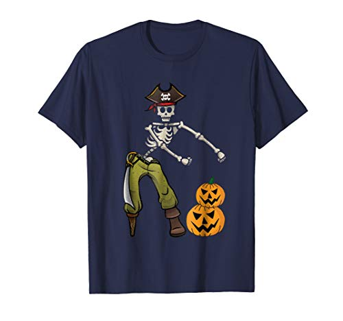 Flossing Skeleton Pirate Shirt Halloween Kids Boys Men Gift