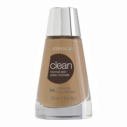 (CoverGirl Clean Liquid Makeup, Classic Tan (W) 160, 1.0-Ounce Bottles (Pack of 2))