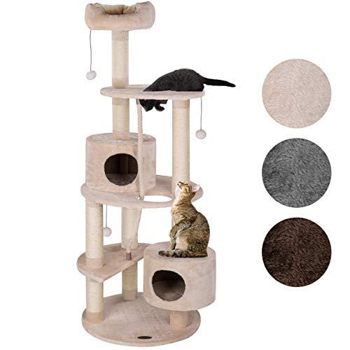 Happypet® Kratzbaum Grosse Katzen 167 cm (CAT040), Kletterbaum rund Katzenbaum Maine Coon, extra Dicke und stabile Natur…