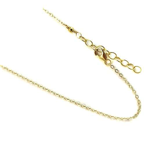 14k Gold Filled(1/20 of 14k) 1.2mm Anklet. Flat Rolo Link Chain. 9,10,11,12 Inches with 1
