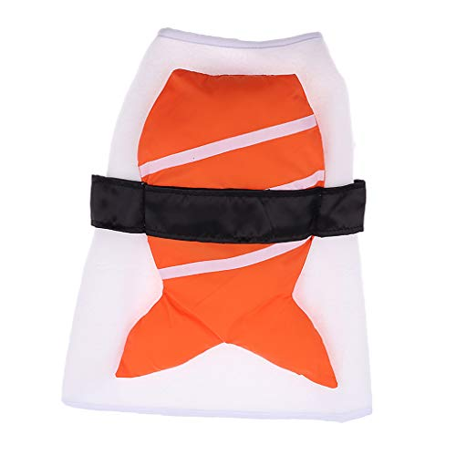 Flameer Dogs Costume Ball Halloween Party Food Sushi Coat Outfit Funny Dog Costumes - S ()