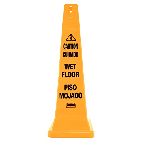 (Rubbermaid Commercial Safety Cone, Caution, 36-Inch, Multilingual, FG627677YEL)
