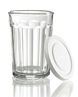 Luminarc Arc International Working Glass Storage Jar/Cooler with White Lid (Set of 4), 21 oz, Clear (B01NCMAJXZ) | Amazon Products