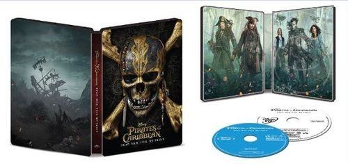 Pirates Of The Caribbean  Dead Men Tell No Tales  Collectible Steelbook  Blu Ray Dvd Digital