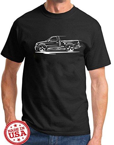1999-04 Ford SVT Lightning F150 Pickup Truck Redline Series Outline Design Tshirt Large Black