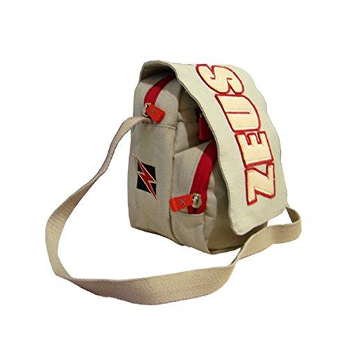 Zeus Herren Sporttasche Schultertasche Handtasche Fußball Umhängetasche BAG CITY 11x20x15 cm (SCHWARZ-GRAU) GRAU-ROT