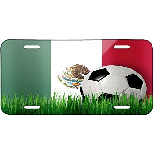 Soccer Team Flag Mexican Metal License Plate 6X12 Inch by Saniwa