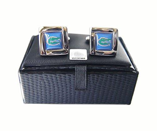aminco NCAA Florida Gators Sports Team Logo Square Cufflinks Gift Box Set