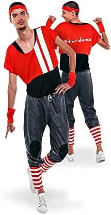 Disfraz de Aerobic ochentero rojo para hombre: Amazon.es: Juguetes ...