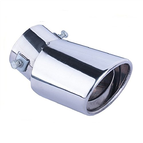 Dsycar Universal Stainless Steel Car Exhaust Tail Muffler Tip Pipes Fit Pipes - Fit Pipe Diameter 1.5 to 2.3 inch (Silver) ()