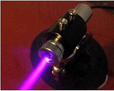 250mw 405nm 3~5V Blue/Violet Diode Laser Dot Module 12×45mm /Engrave + Holder + Adapter