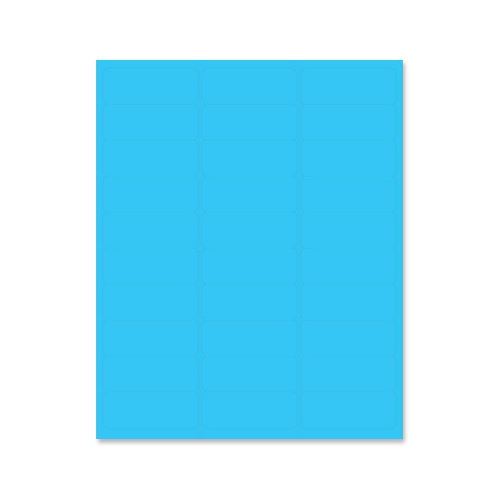 PDC Healthcare LS1258-5 Chart Labels Laser, Portrait, 2 5/8'' x 1'', Blue (Pack of 30)